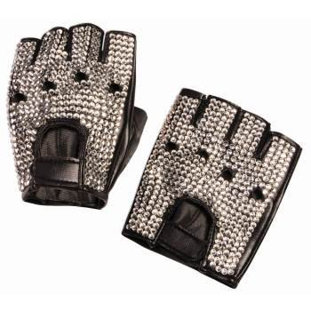 Rhinestone Biker Gloves Halloween Costume Accessory - Baker Halloween Costume