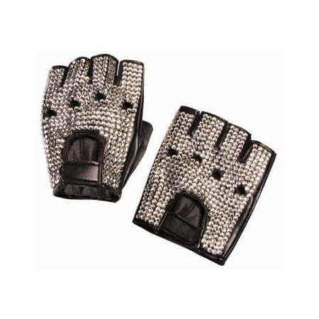 Rhinestone Biker Gloves Halloween Costume Accessory](Biker Halloween Costume)