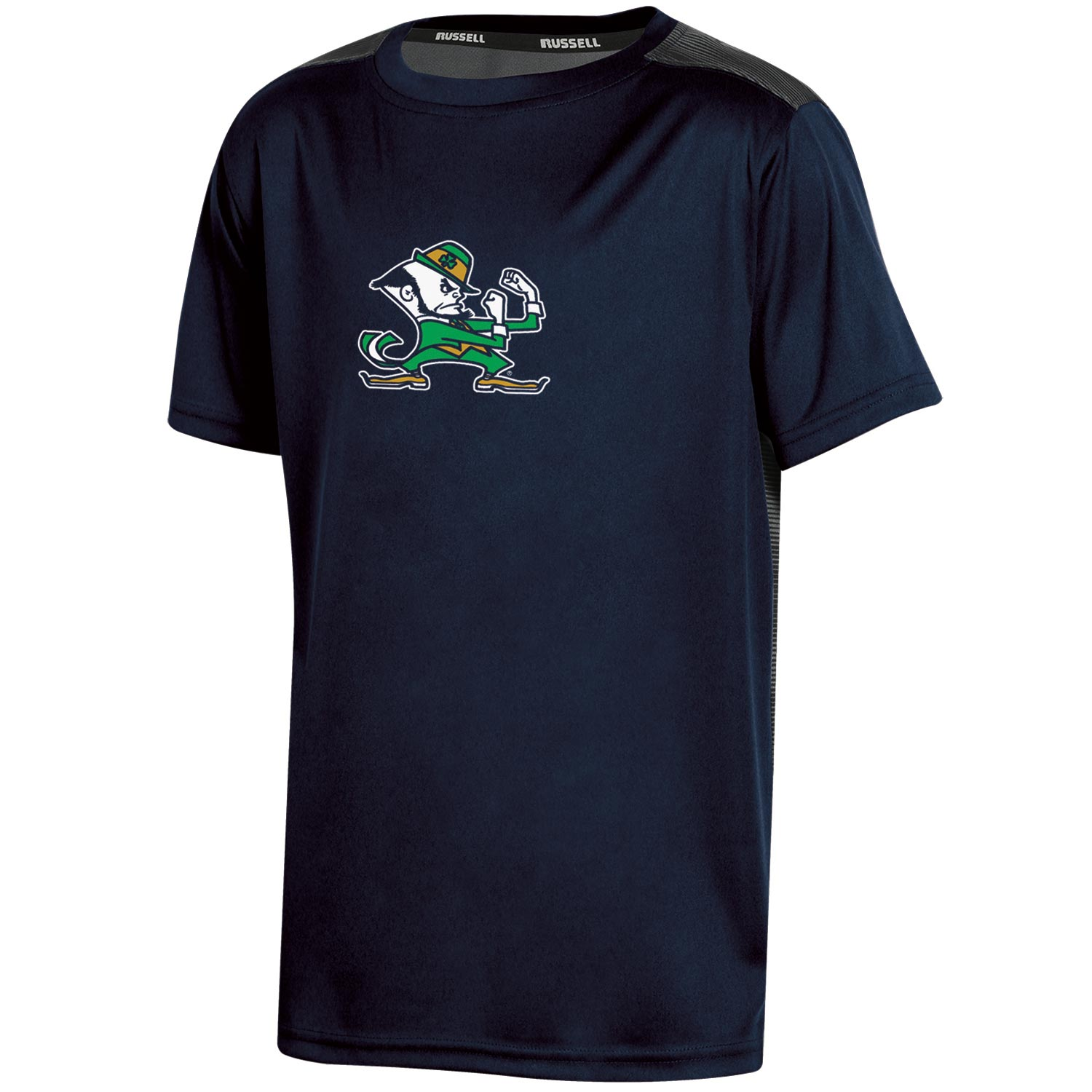 Youth Russell Navy Notre Dame Fighting Irish Color Block T-Shirt