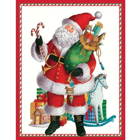 Gift Box Place Card Holder - Christmas Gift Card Holders 4pk 9547ENC Coming to Town Santa