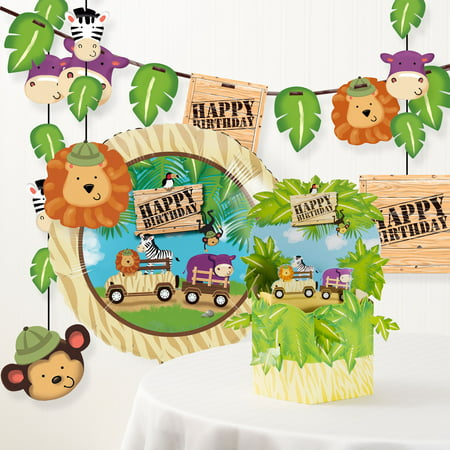 Safari Adventure Birthday Party Decorations Kit