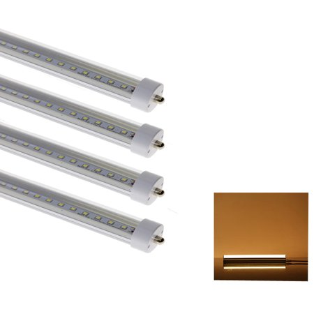 Zimtown 4-Pack FA8 36W(replace 80W fluorescent tube) 8FT LED