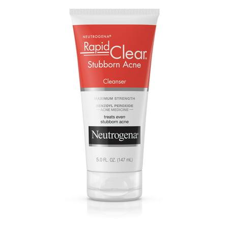 Neutrogena Rapid Clear Stubborn Acne Facial Cleanser, 5 fl. oz