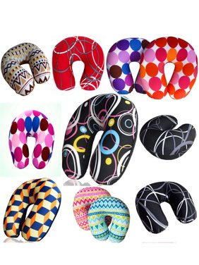 Bookishbunny Ultralight Micro Beads U Shaped Neck Pillow Travel Head Cervical Support Cushion