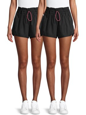 No Boundaries Juniors' High Waist Wind Shorts, 2-Pack