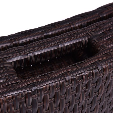 Costway Folding Patio Rattan Chaise Lounge Chair Outdoor Pool side - image 5 of 10