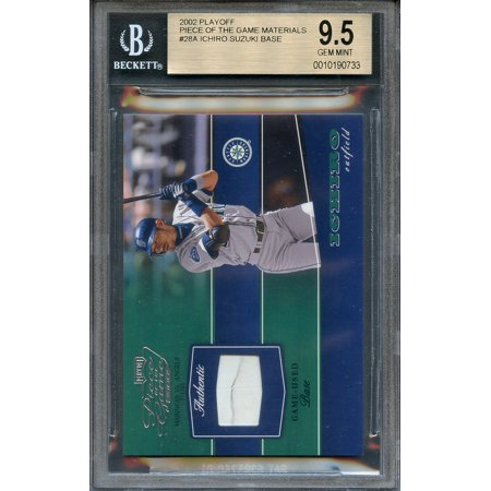 - 2002 playoff piece of the game materials #28a ICHIRO SUZUKI (pop 2) BGS 9.5