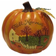 "8.5"" Fall Harvest Pumpkin Decoration"