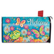 Butterfly Garden Spring Magnetic Mailbox Cover Floral Standard Briarwood Lane