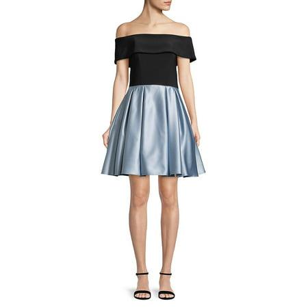 Off-The-Shoulder Fit-&-Flare Dress (Off Shoulder Peasant Dress)
