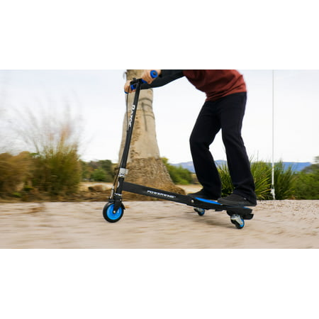 Razor Powerwing Caster Scooter Blue, Ages 6+ and Riders up to 143 lb.