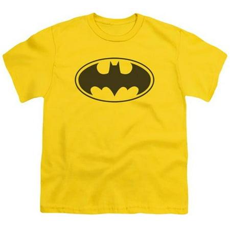 Batman-Black Bat - Short Sleeve Youth 18-1 Tee - Yellow, Medium - image 1 de 1