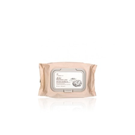 The Face Shop Jeju Volcanic Lava Pore Cleansing Face Wipes, 50