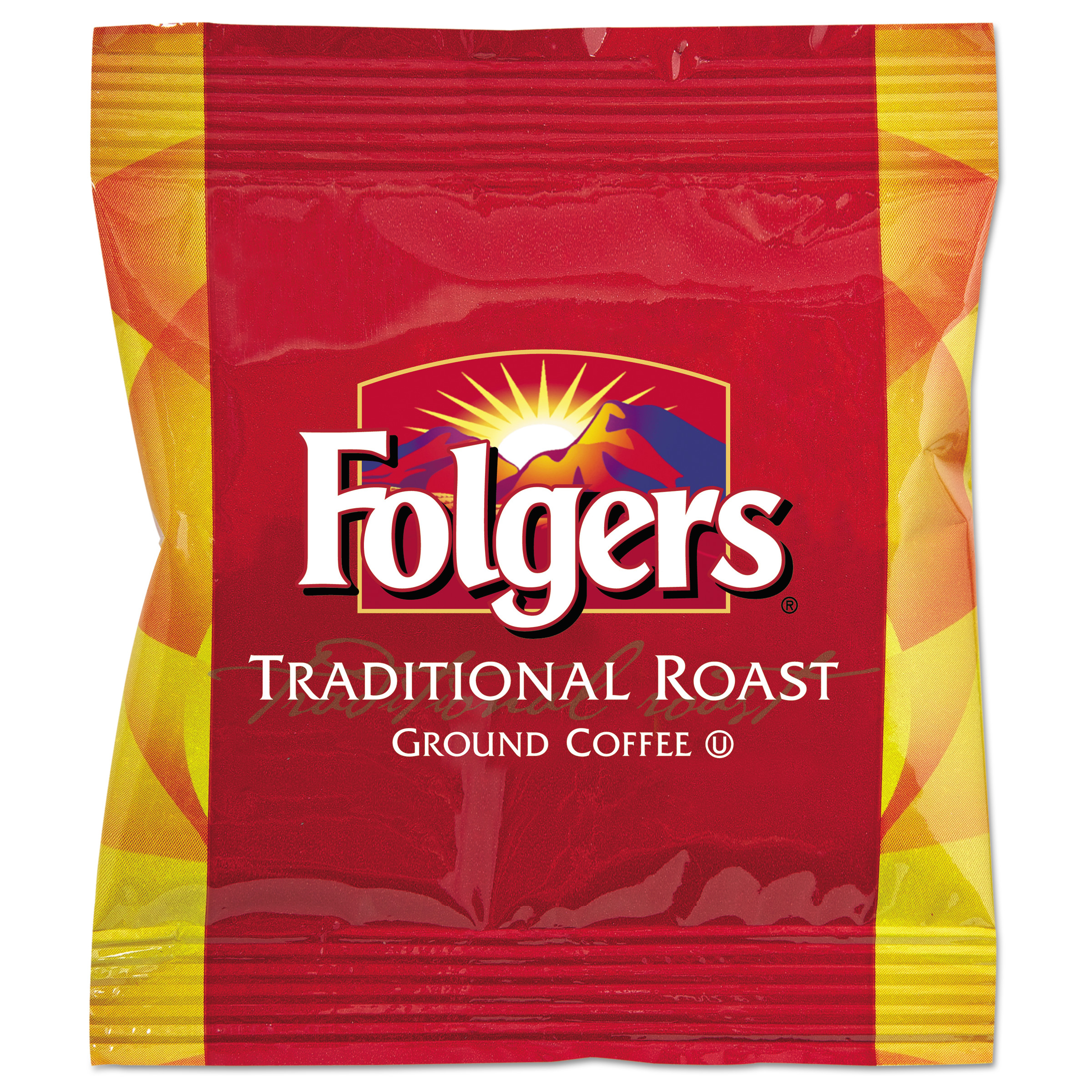 Folgers Traditional Roast Decaf Ground Coffee Fraction Packs, 2 oz. 42 count