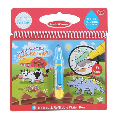 Garosa Portable Children Magic Coloring Painting Book with Water Drawing  Pen Kids Early Learn Toy Kids Coloring Book Magic Water Drawing Book | ...