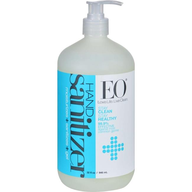 Eo Products HG0913905 32 oz Hand Sanitizer Gel - Natural, Unscented