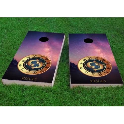 Custom Cornhole Boards Zodiac Stars Pisces Themed Cornhole Game (Set of 2) by Custom Cornhole Boards