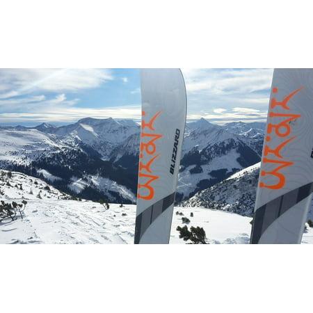 Canvas Print Ski Ski Touring Alpine Touring Skis Snow Stretched Canvas 10 x