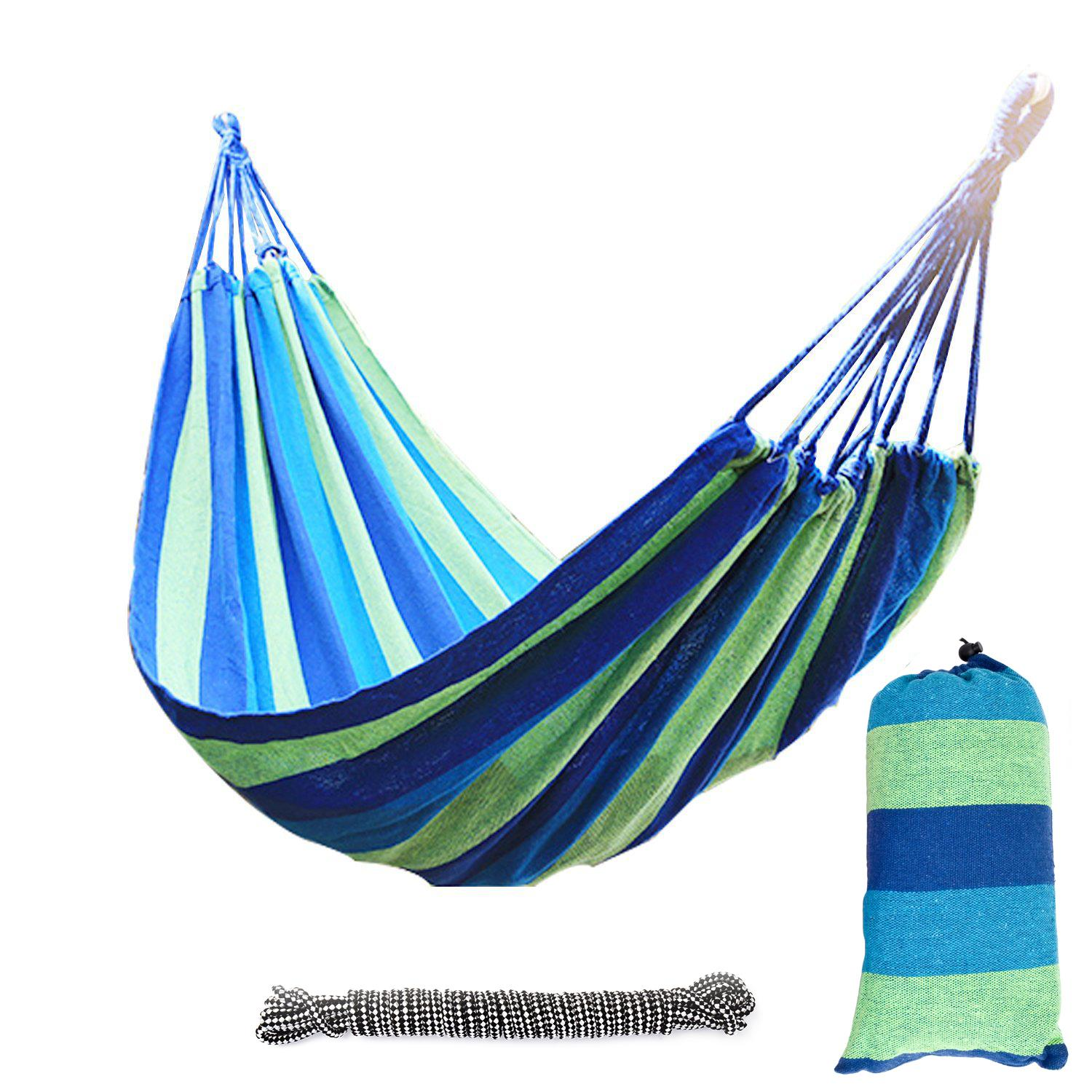Ktaxon Outdoor Cotton 2-Person Double Hammock Bed with Carrying Bag