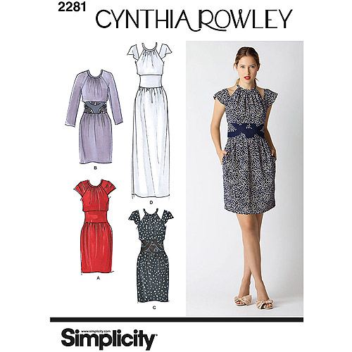 SIMPLICITY MISSES DRESSES-14-16-18-20-22, Pk 1, Simplicity Patterns