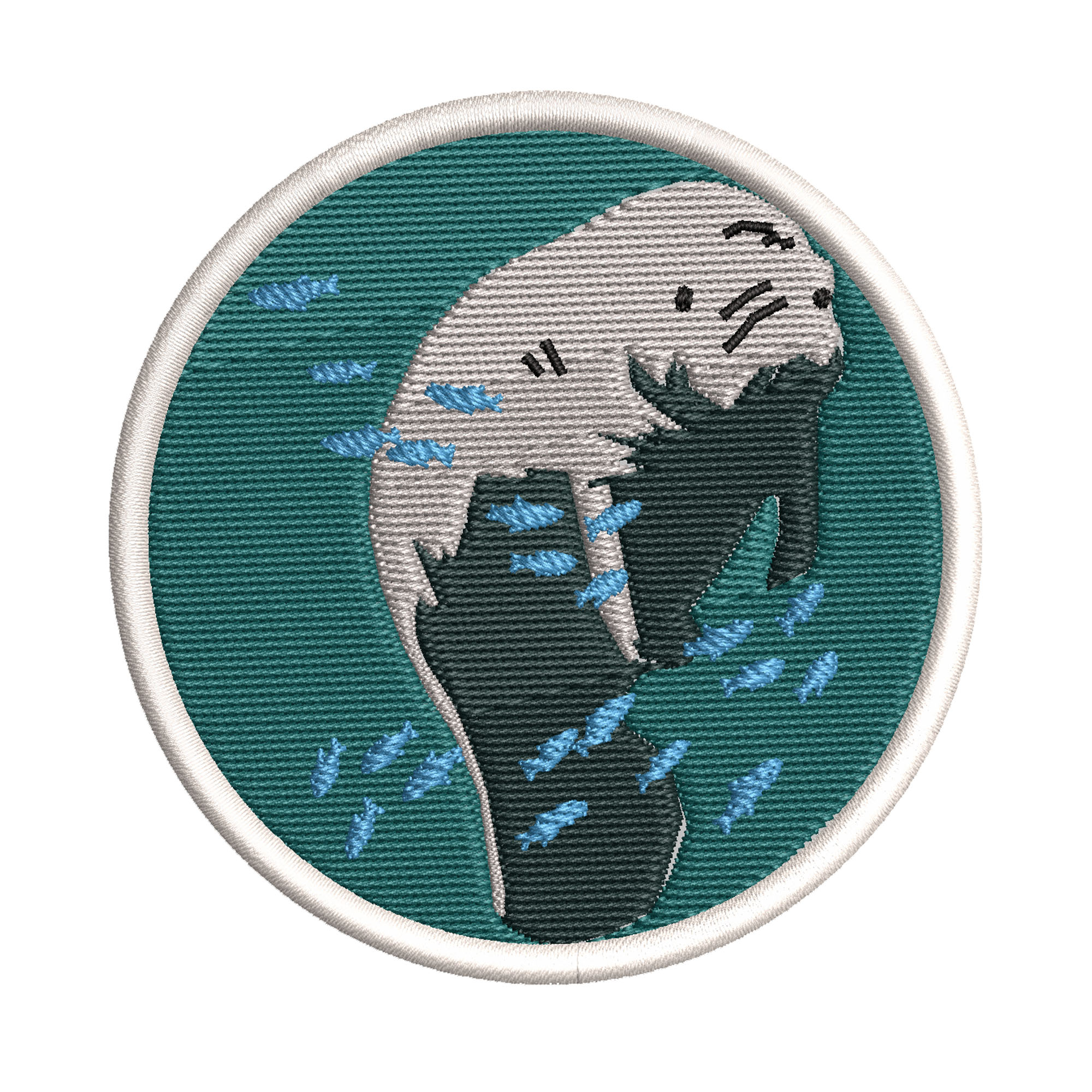 Sew-On Decorative Embroidered Patch FLORIDA STATE SHAPE Animal Iron-On