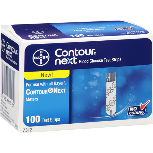 Bayer Contour Next Blood Glucose Test Strips, 100 count