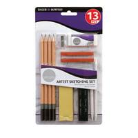 Daler-Rowney Simply Pencil Artist Sketching Set, 13 piece set