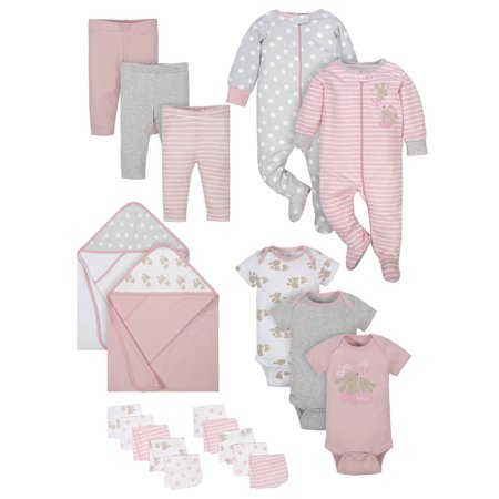 Girl Baby Shower Gifts (Wonder Nation Baby Shower Layette Gift Set, 20pc (Baby)