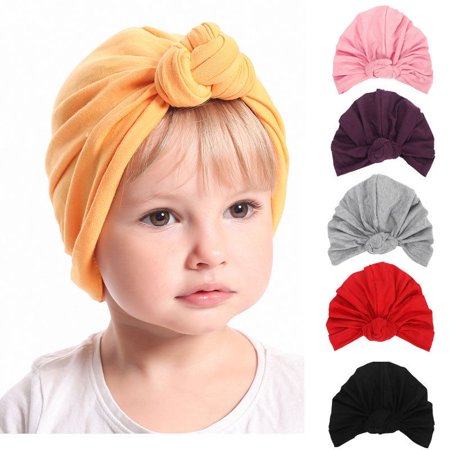 Cute Newborn Baby Infant Girl Toddler Comfy Bowknot Hospital Cap Beanie Hat (Girls Pink Cowgirl Hat)