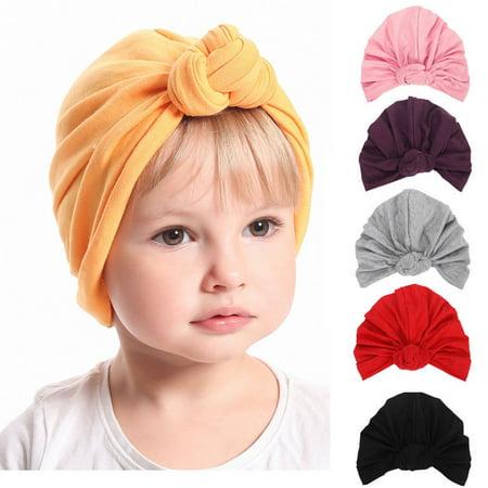 Cute Newborn Baby Infant Girl Toddler Comfy Bowknot Hospital Cap Beanie Hat ()