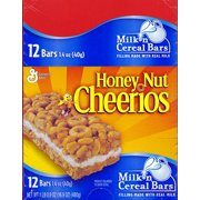 Honey Nut Cheerios Crunch Cereal Bar, 12 Ct (Pack of 8)