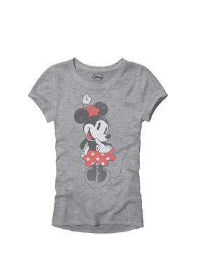 42561f6d Product Image Disney SHY Minnie Mouse Classic Vintage Disneyland World  Adult Women's Juniors Slim Fit Graphic Tee T