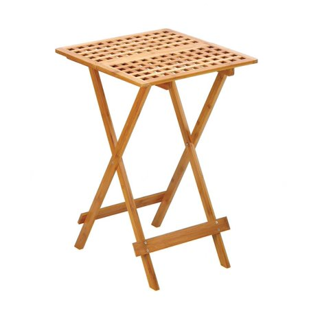 Food Tray Table, Breakfast Coffee Serving Portable Wood Tray