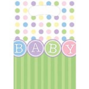Baby Shower Party Supplies Loot Favor Bags 8 ct