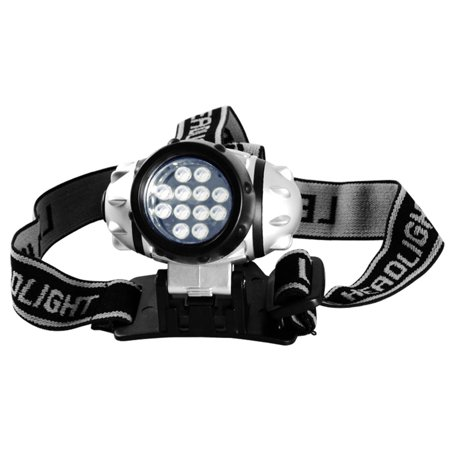 12 LED Pivoting Head Lamp with Adjustable Strap