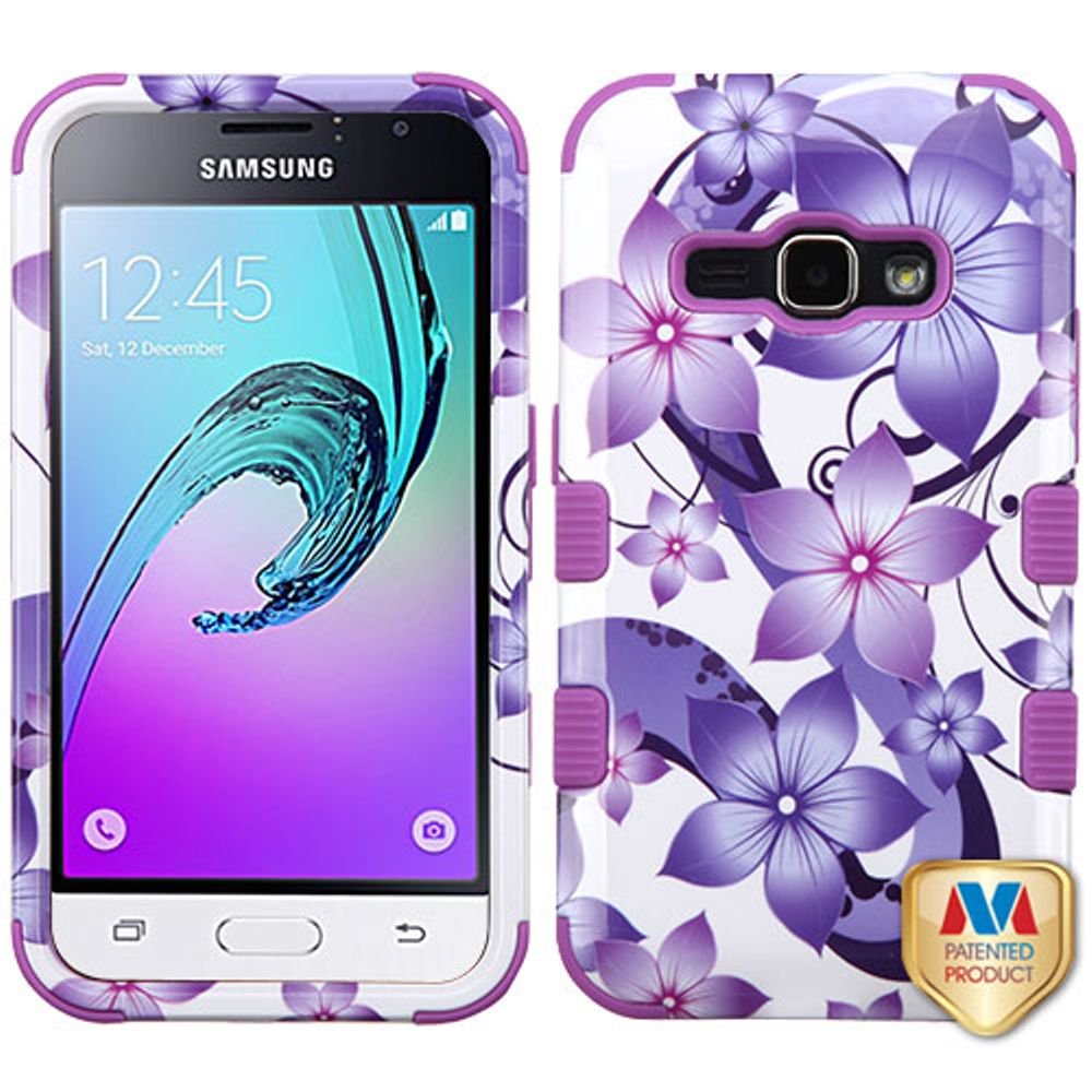 promo code 7dc9b 340b0 Samsung Galaxy J1 (2016) Phone Case, Samsung Galaxy J1 (2016) Case, by  Insten Tuff Four-leaf Clover Hard Hybrid Rubber Coated Silicone Case For ...