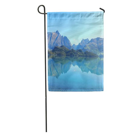KDAGR Breathtaking Panoramic View of Random Lake in Nz While Driving Garden Flag Decorative Flag House Banner 12x18 inch ()