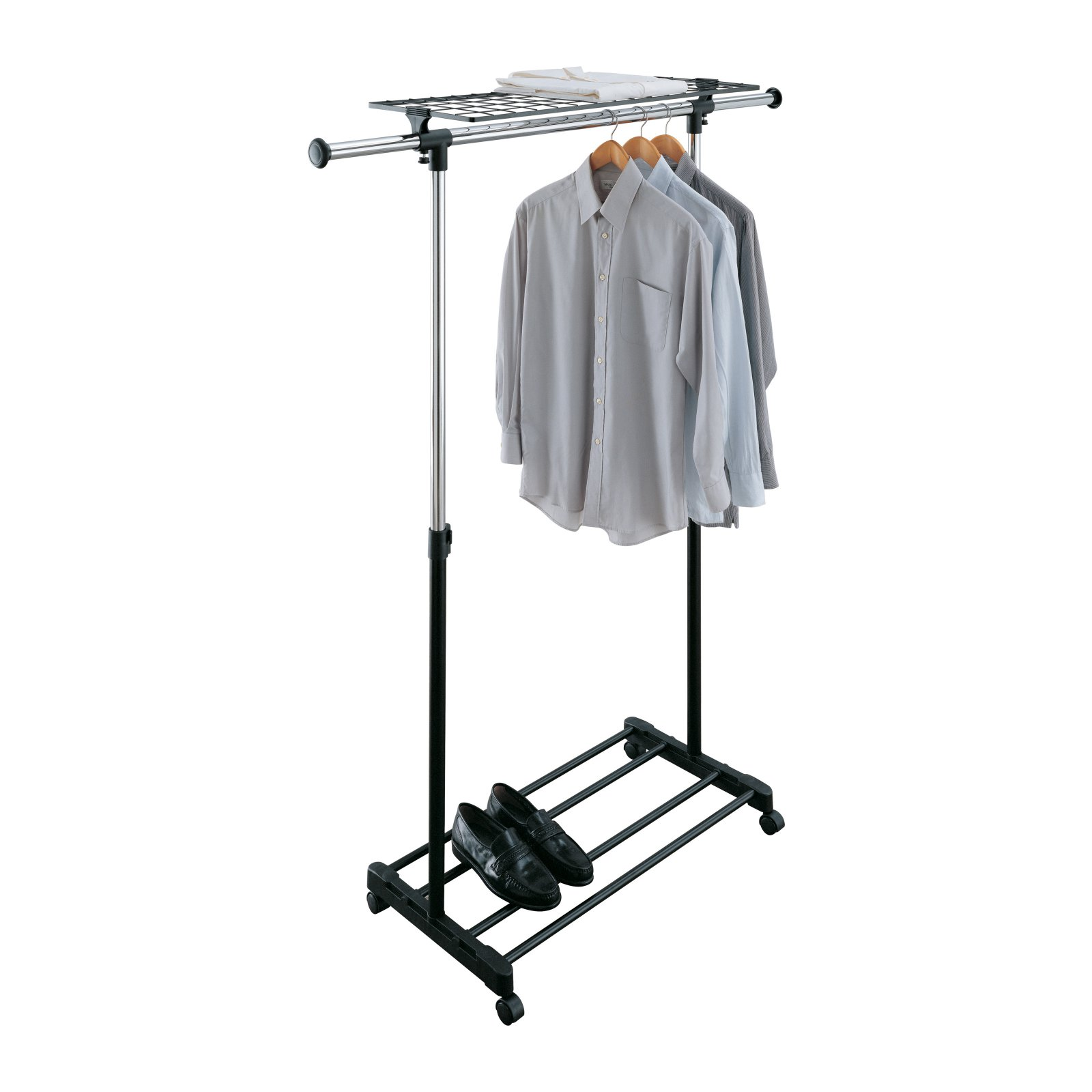 Rolling Tire Storage Rack >> Rolling Adjustable Garment Rack - Walmart.com