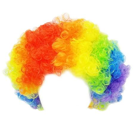 SeasonsTrading Economy Rainbow Clown Wig - Halloween Clown Costume Party Wig (Rainbow Wig Party City)