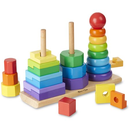 Melissa and Doug Geometric Stacker Toddler Toy (2 Yr Old Toys)