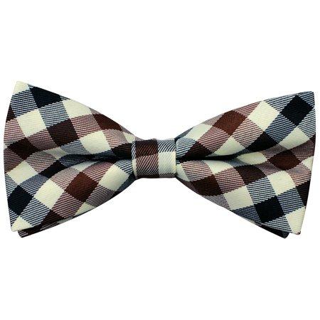 Enimay Plaid Printed Striped Pre-Tied Bow Ties Many Colors & Styles Available