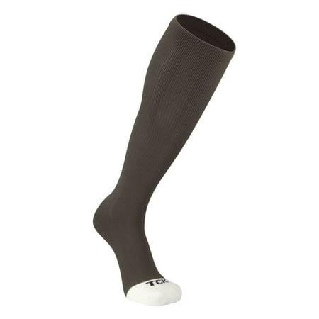 TCK ProSport Elite Tube Knee High Long Socks Baseball Soccer Football (Graphite, M)