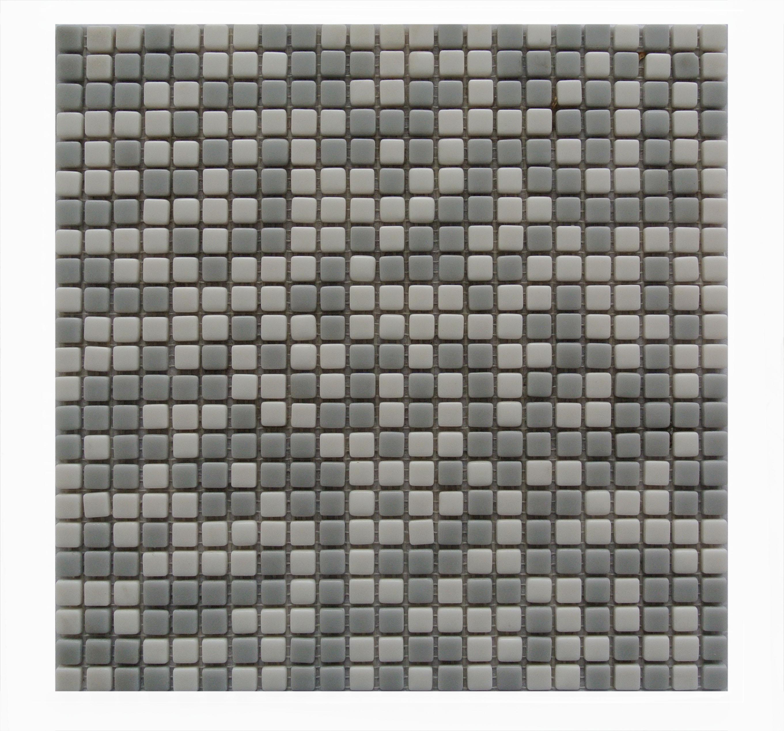 "Abolos- Full Body 0.5"" x 0.5"" Glass Mosaic Backsplash Tile in Gray (5.45sqft - 5pc Box)"