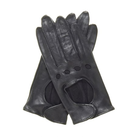 Ladies Leather Driving Gloves - Pratt and Hart Women's Womens Leather Driving Gloves