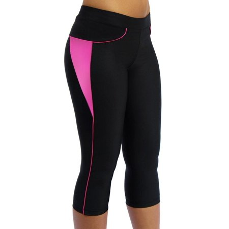Wool Cycling Knickers (ScudoPro Capri Legging Knicker Padded Cycling Pant for Women 3/4 Pink Large)