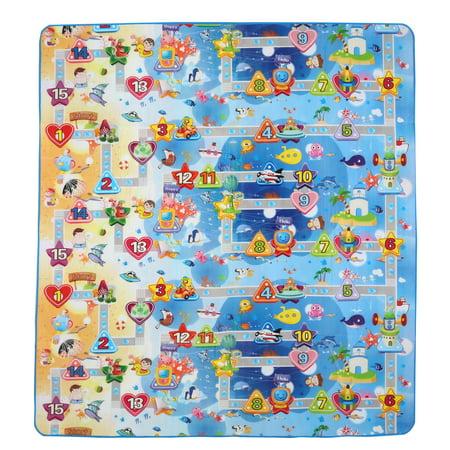 71 x 59 Inches Extra Large Baby Crawling Mat Non Toxic Baby Play Game Mat (Crawl Mat)