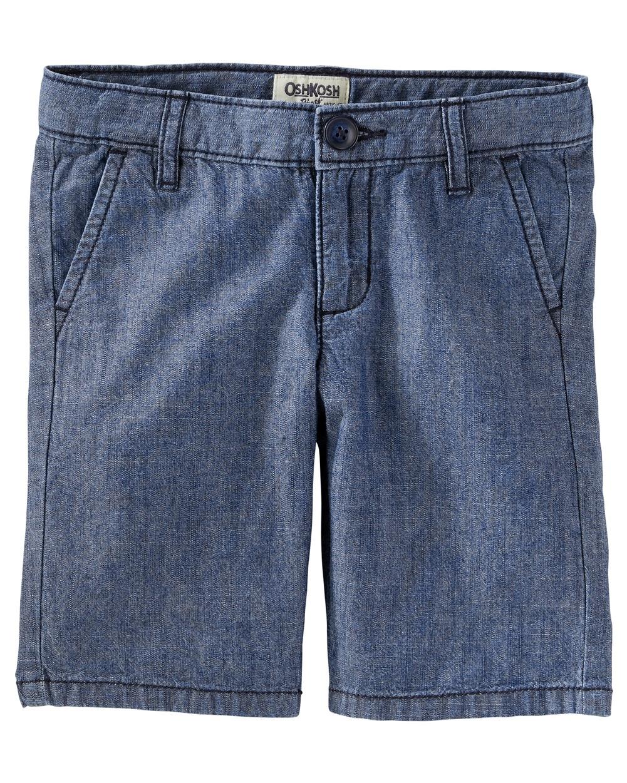 OshKosh B'gosh Little Girls' Chambray Uniform Shorts, 6X Kids