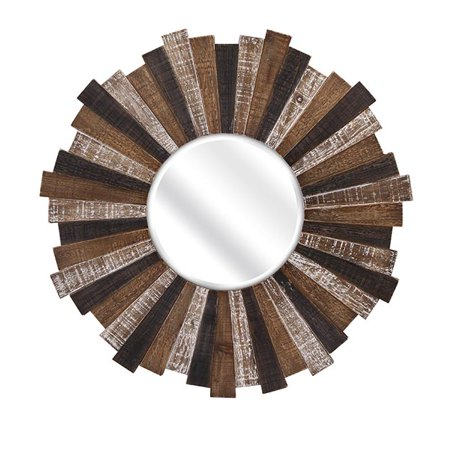 Starburst Nickel Mirror (Wood Starburst Mirror)