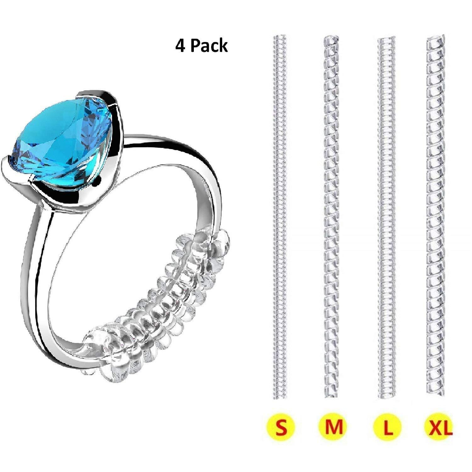 Ring Size Adjuster Ring Guard 8 or 10 -SHIPS FREE Size Small Fits Up To 2mm Shank /& Large Fits Up To 3mm Shank Ring Guards Set of 6