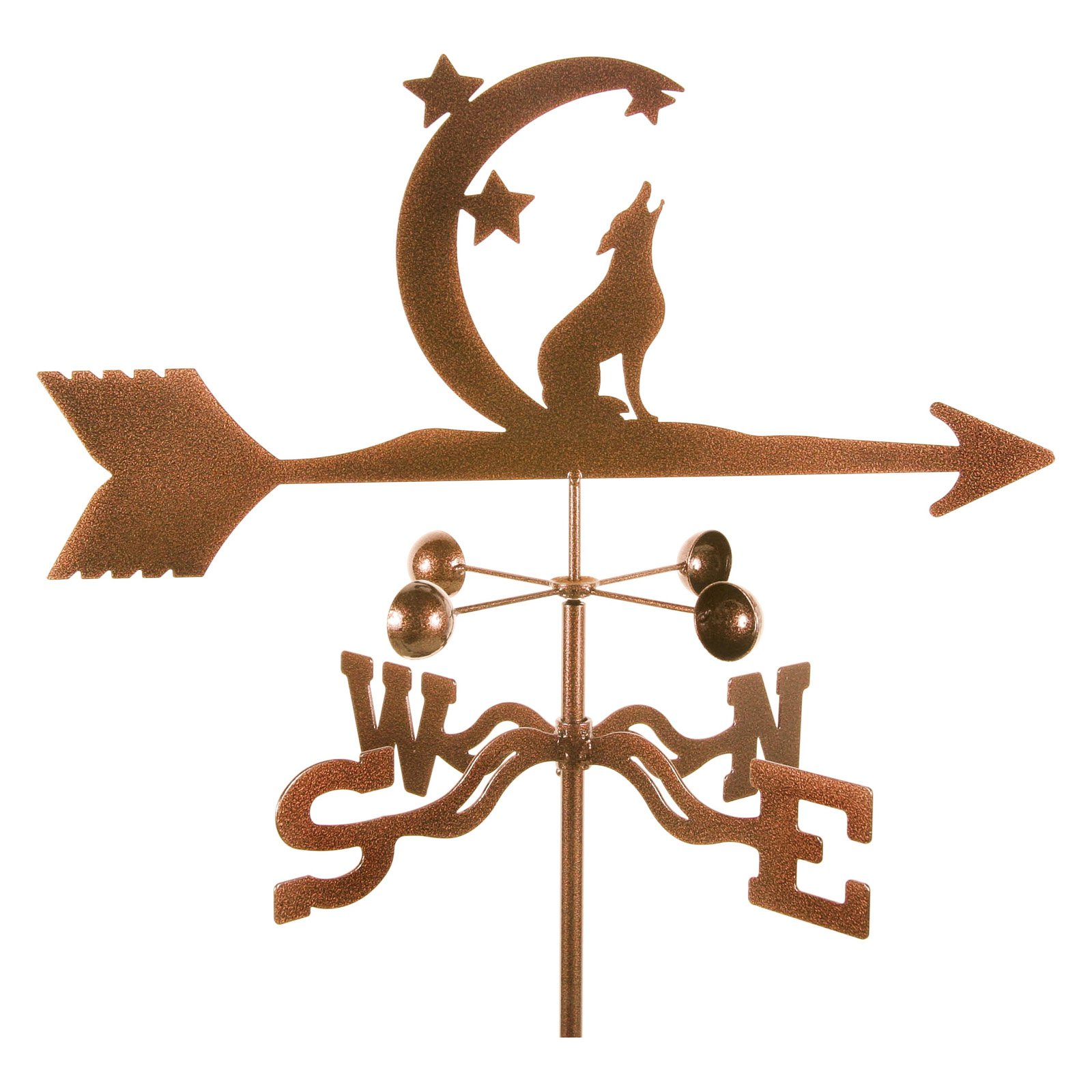 EZ Vane Coyote with Moon and Stars Weathervane by EZ Vane